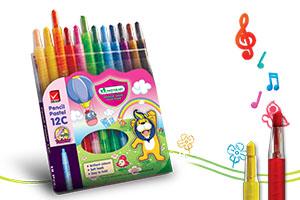 ดินสอสีพาสเทล มาสเตอร์อาร์ต 12 สี