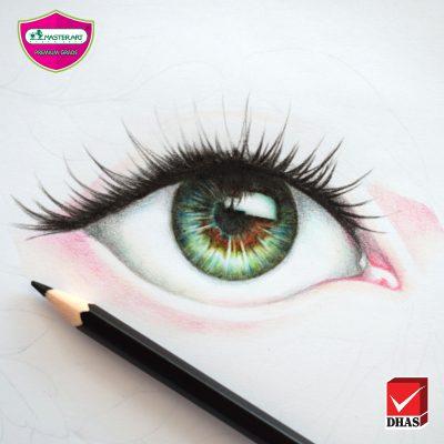 สีไม้มาสเตอร์อาร์ต ระบายสีดวงตา