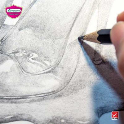 Master Art ดินสอ สอนวาด รองเท้าแก้ว